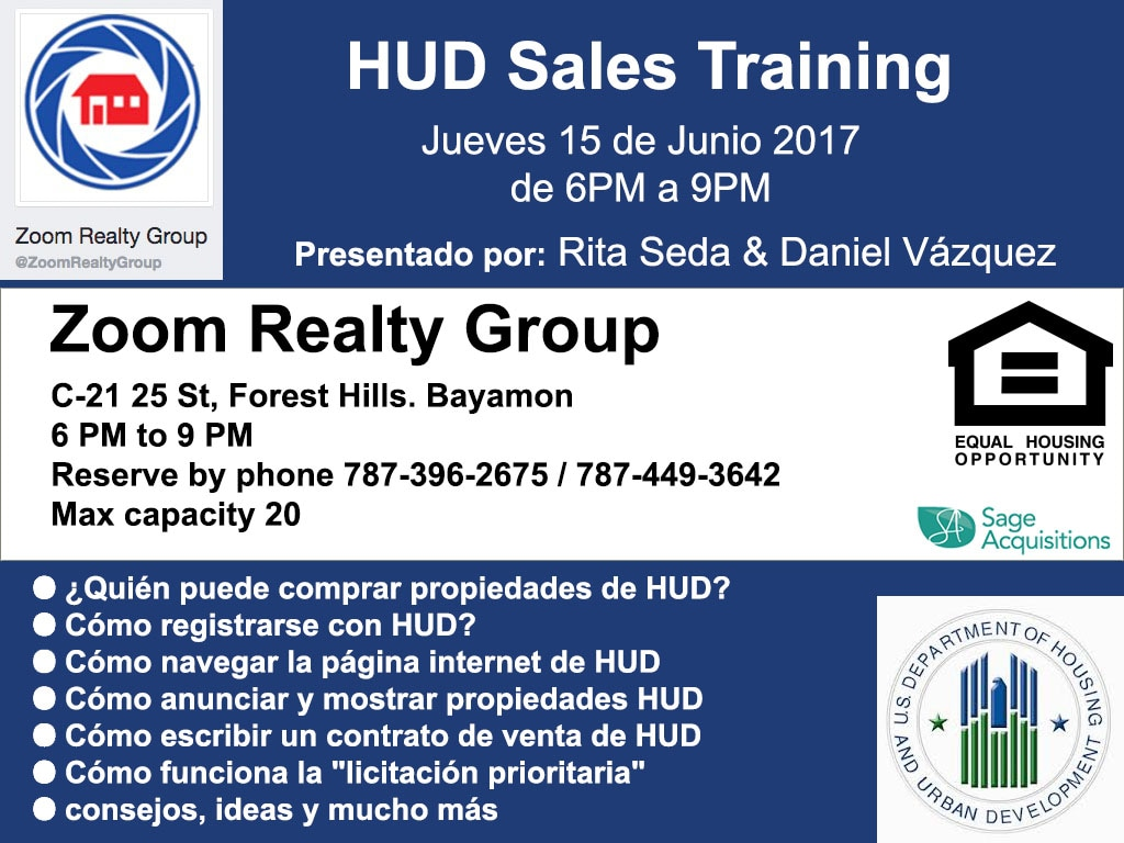 hud sales training given by daily homes & rita seda - daily homes